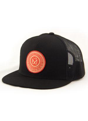 Red_Circle_Maldicion_Trucker_Black